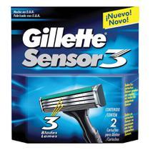 Gillette carga para aparelho sensor 3 c/2 -