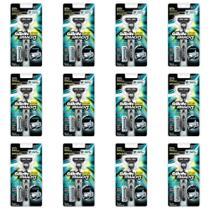 Gillette Mach3 Aparelho De Barbear + 2 Cargas (Kit C/12) -