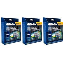 Gillette Mach3 Sensi Care Carga C/4 + Gel 71g (Kit C/03)