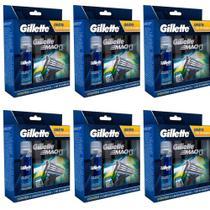 Gillette Mach3 Sensi Care Carga C/4 + Gel 71g (Kit C/06) -