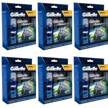 Gillette Mach3 Sensi Care Carga C/4 + Gel 71g (Kit C/06)