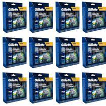 Gillette Mach3 Sensi Care Carga C/4 + Gel 71g (Kit C/12) -