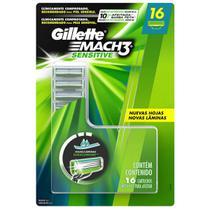Gillette Mach3 Sensitive 16 Cartuchos Recarga -