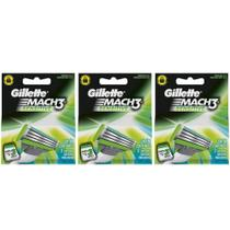 Gillette Mach3 Sensitive Carga C/3 (Kit C/03)