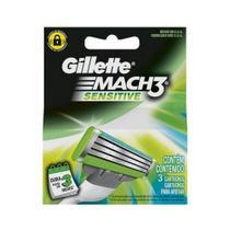 Gillette Mach3 Sensitive Carga C/3 -
