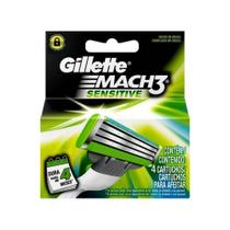 Gillette Mach3 Sensitive Carga C/4