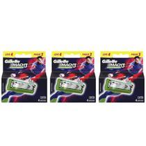 Gillette Mach3 Sensitive Carga Futebol C/4 (Kit C/03) -