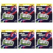 Gillette Mach3 Sensitive Carga Futebol C/4 (Kit C/06) -