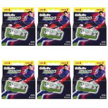 Gillette Mach3 Sensitive Carga Futebol C/4 (Kit C/06)