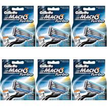 Gillette Mach3 Turbo Carga C/2 (Kit C/06) -