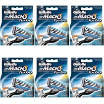 Gillette Mach3 Turbo Carga C/2 (Kit C/06)