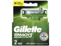 Gillette Shave Care Mach3 Sensitive - Cartuchos de Barbear 2 Peças -