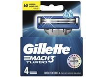 Gillette Shave Care Mach3 Turbo - Cartucho de Barbear 4 Peças -