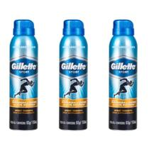 Gillette Sport Triumph Desodorante Aerosol Jato Seco 150ml (Kit C/03) -