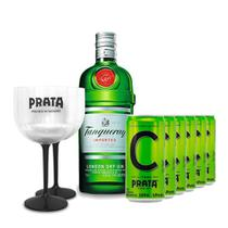 Gin Tanqueray 750ml + 6 Citrus Prata 269ml + 2 Taças -