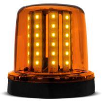 Giroflex Luz de Emergência Sinalizador 54 LEDs 12V 10W Âmbar Giroled Fixação por Parafuso Carro Moto - Autopoli
