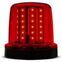 Giroflex Luz de Emergência Universal 54 LEDs 12V 10W Vermelho Giroled Fixação por Imã para Carro - Autopoli
