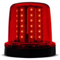 Giroflex Luz de Emergência Universal 54 LEDs 24V 10W Vermelho Giroled Fixação Parafusos Caminhão - Autopoli