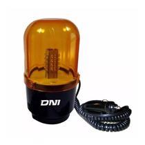 Giroflex Luz Rotativa de Advertência Lente em Acrílico Ambar 24 Leds 12V - Dni