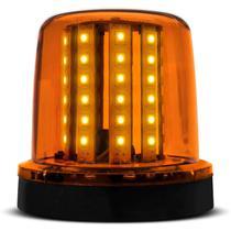 Giroled Luz Emergência Sinalizador 54 LEDs 12 24V Âmbar Giroflex Fixação Parafuso - Autopoli