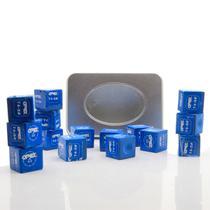 Giz Apex Profissional para Taco de Sinuca Bilhar Snooker Azul c/15 un - Verito