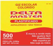 Giz Escolar Plastificado Cores Master CX.C/500 UN. Caixa Delta -