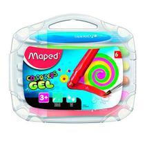 Giz Gel Aquarelável Color Peps Macio Maleta 6 Cores Multicor - Maped