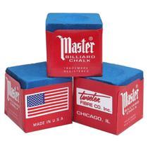 Giz Master Azul Profissional para Taco de Sinuca Bilhar Snooker com 3 Peças Tweeten -