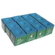 Giz Maxxi - Profissional Para Sinuca Azul - 12 Unidades - Maxxi Tacos