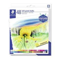 Giz Pastel Seco Carre Soft Staedtler Karat 48 Cores -