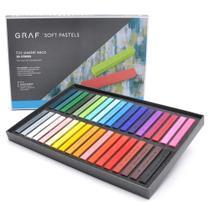 Giz Pastel Seco Graf Soft Pastels 36 Cores Diferentes Cis -