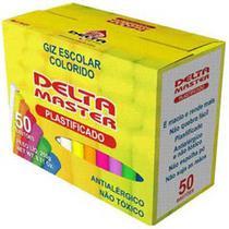 Giz Plastificado Sortido CX C/50 Palitos - Delta