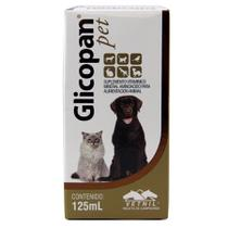 Glicopan Pet 125ml Vetnil Suplemento p/ Animais
