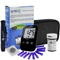 Glicosímetro G-tech Lite Com Tiras E Lancetas + Estojo - Gtech