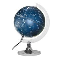 Globo Celeste Constelações Cielo - 21cm Base Cromada - Libreria