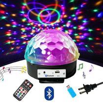 Globo De Luz Led Giratorio Festa Balada Mp3 Usb Bluetooth Dj - LUATEK