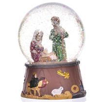 Globo de Natal Presépio Vermelho e Verde 11cm - Etna