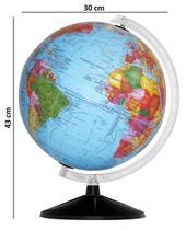 Globo terrestre - 30cm - opaco - sem luz - base pl - LIBRERIA