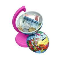 Globo Terrestre Libreria 10Cm Millenium Rosa Pink 311693 Politico - Base e Régua Plástico Rosa Pink -
