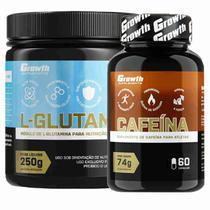 Glutamina 250g Pura + Cafeina 420mg 60 Caps Growth - Growth Supplements
