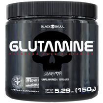 Glutamina Glutamine 300g Caveira Preta Black Skull -