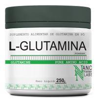 Glutamina Powder Pura em Pó - Nano Farma Labs - 250g -
