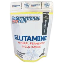 GLUTAMINE - L-Glutamina Fermentada Natural 100% Pura - 500g - 263 porções - International Protein -