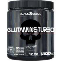 Glutamine turbo caveira preta - glutamina - 300g - Black Skull -