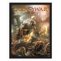 God of War Jogo Vídeo Game Quadro Retrô Vintage - Conspecto