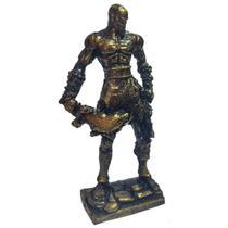 God Of War Kratos Boneco Dourado Action Figure Decoração Escritorio - Websize