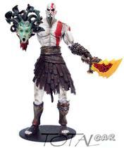 God Of War Kratos Medusa Neca Boneco Espada De Fogo -