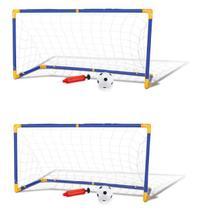 Gol Trave Futebol Meninos Kit 2 Traves Infantil Com Bola - Dm toys