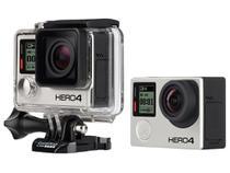 "GoPro Hero 4 Black À prova de Água 12MP Wi-Fi - Bluetooth Gravação 4K Display 1,5"" Touch"