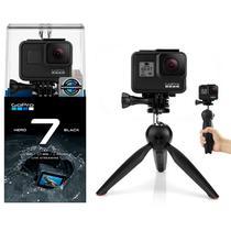 GoPro Hero 7 Black Câmera 4K + Tripé Bastão Mini 2 em 1 - Tudoprafoto